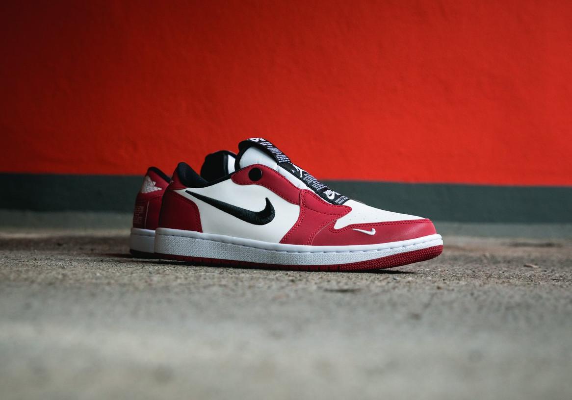 Wmns Air Jordan 1 Low Slip NRG 'Chicago' White Varsity Red (2)