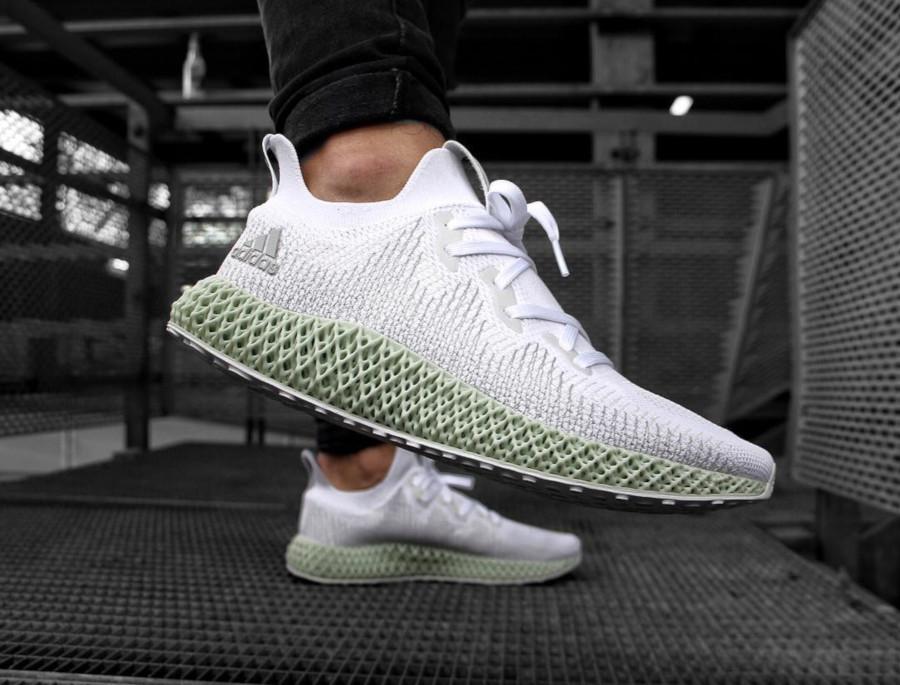 Adidas Alphaedge 4D 'FTWR White Linen Green'