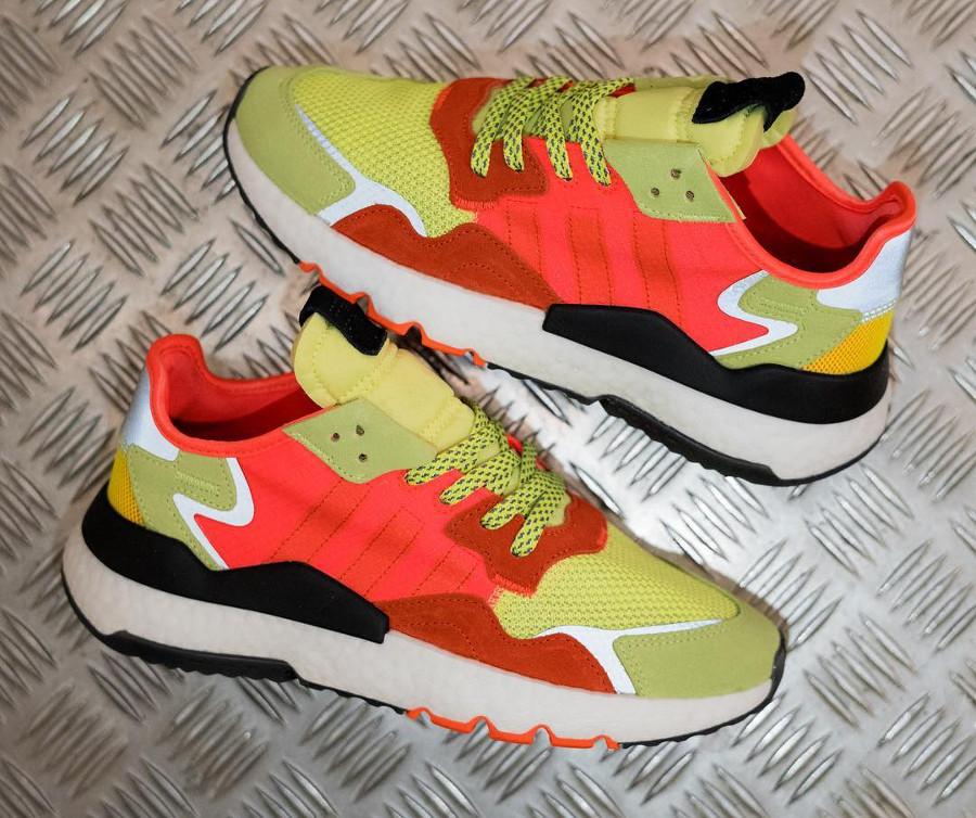 Adidas Nite Jogger jaune fluo et orange (2)