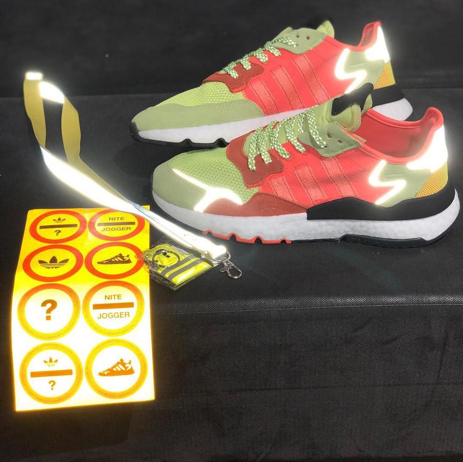 adidas nite jogger jaune fluo