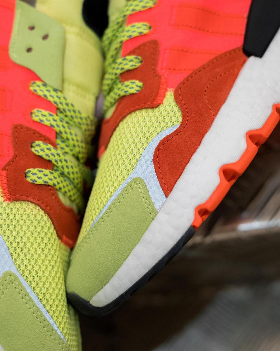 Adidas Nite Jogger jaune fluo et orange (6)