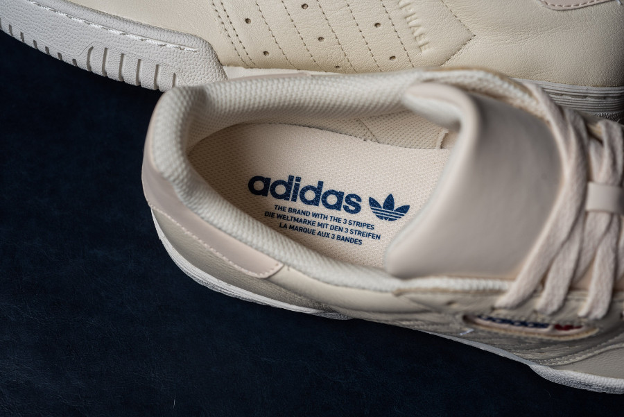 Adidas Powerphase en cuir beige (2)