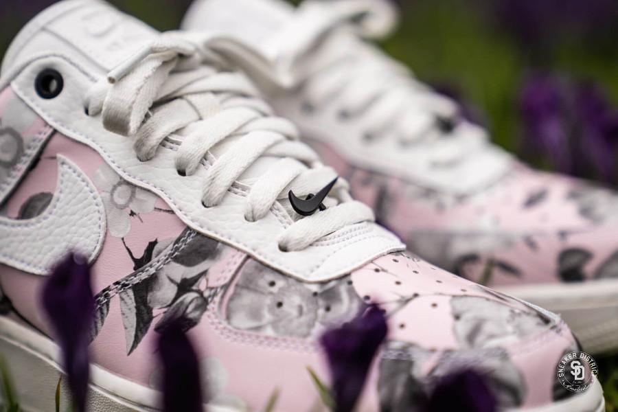 Nike Air force 1 lxx Rose blanc fleur AO1017 102