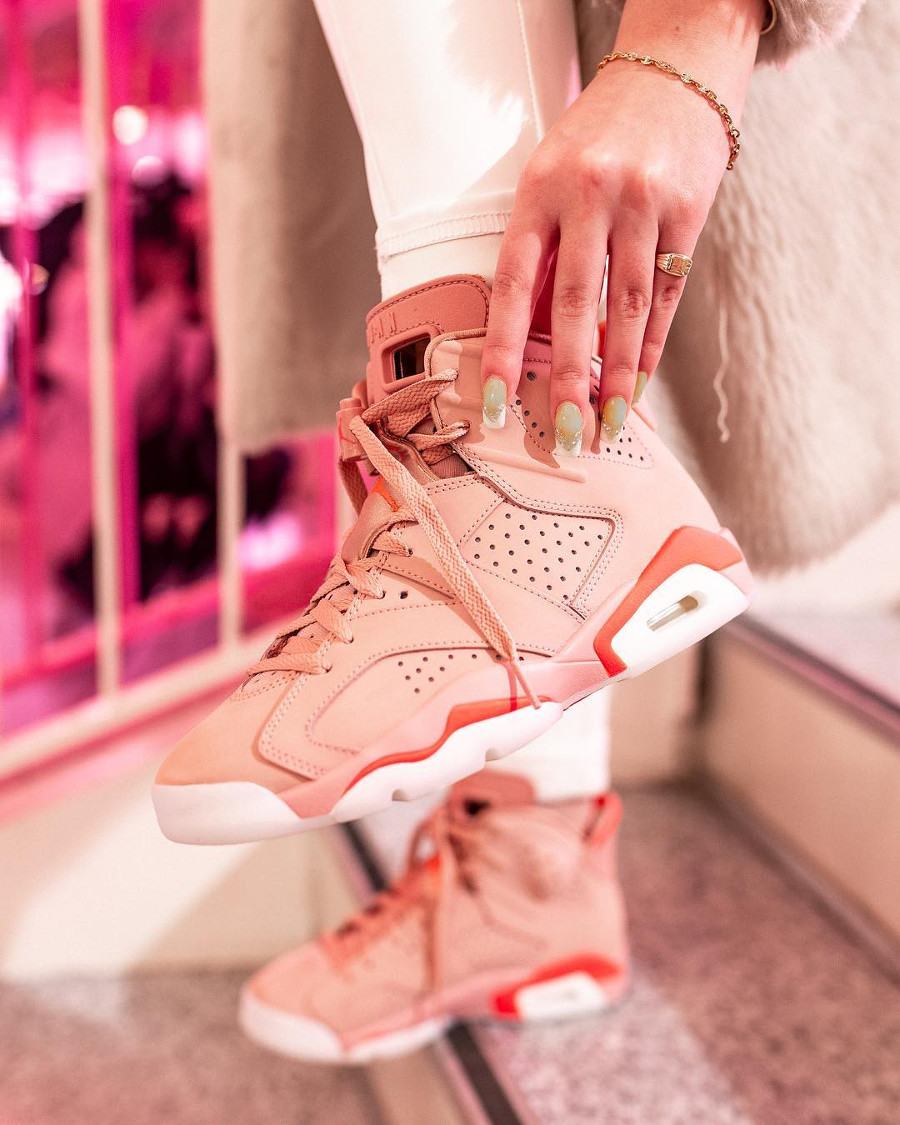 Air Jordan 6 Retro NRG Aleali May Rose Millennial Pink