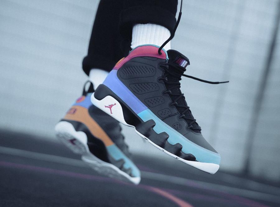 Air Jordan 9 noire multicolore 2019 (4-1)