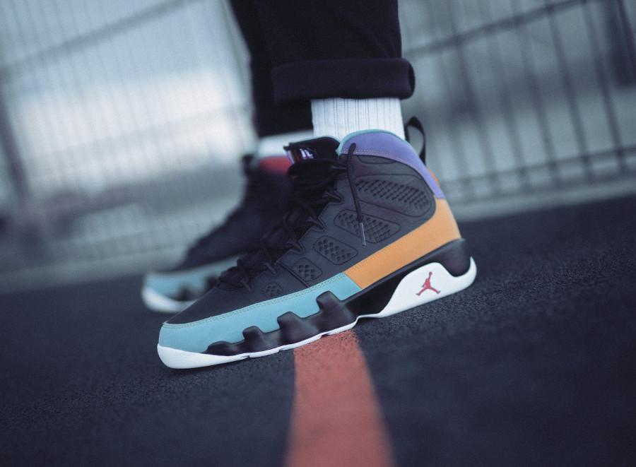 Air Jordan 9 noire multicolore 2019 (4)