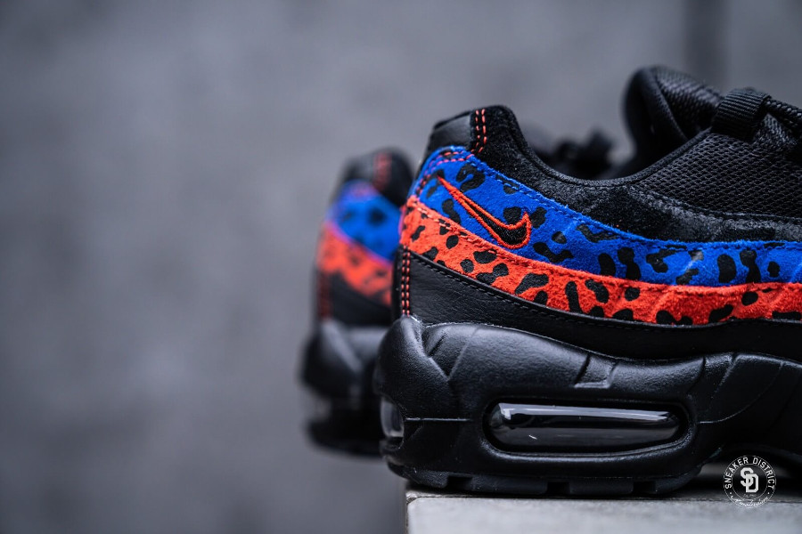 Air Max 95 Premium Black Leopard Habanero Red Racer Blue (3)