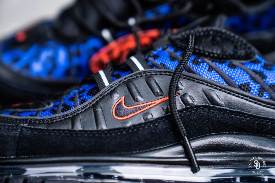 Air Max 98 Premium Black Leopard Habanero Red Racer Blue (3)