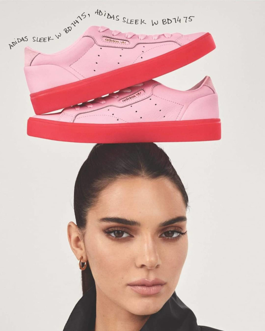 Kendall Jenner x Adidas Sleek W Pink Red (5)
