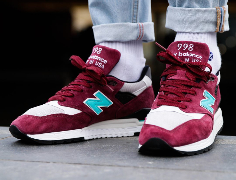 New Balance M 998 AWC 'Burgundy Teal'