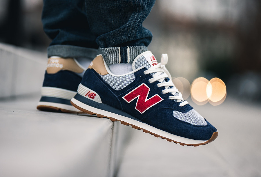 New Balance ML 574 PTR Navy Blue Red (Beach Cruiser Pack) (3)