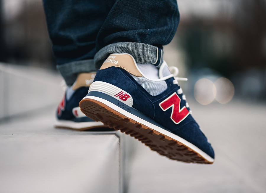 New Balance ML 574 PTR Navy Blue Red (Beach Cruiser Pack) (5)