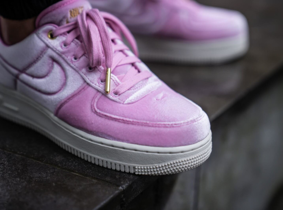 Nike Air Force 1 '07 Premium 3 'Velvet' Pink Rise Sail (4)