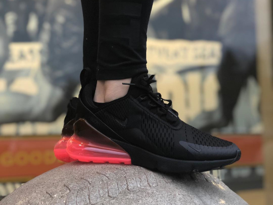 Nike Air Max 270 Black Hot Punch - @marriedwithkickzz