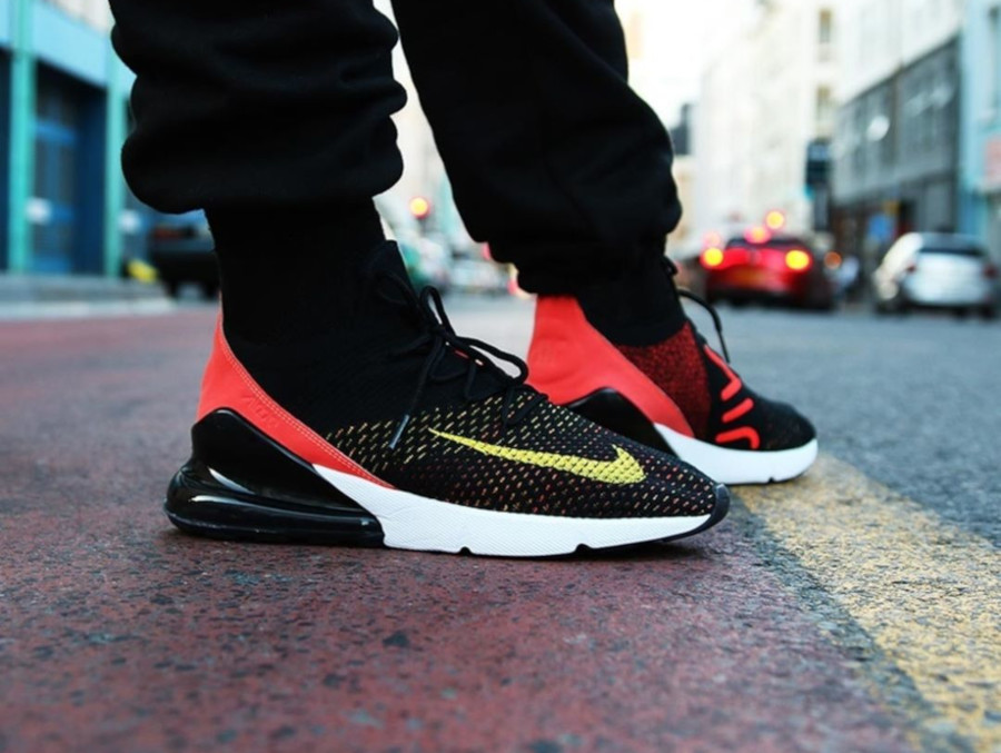 Nike Air Max 270 Flyknit Black Red - @shelflife