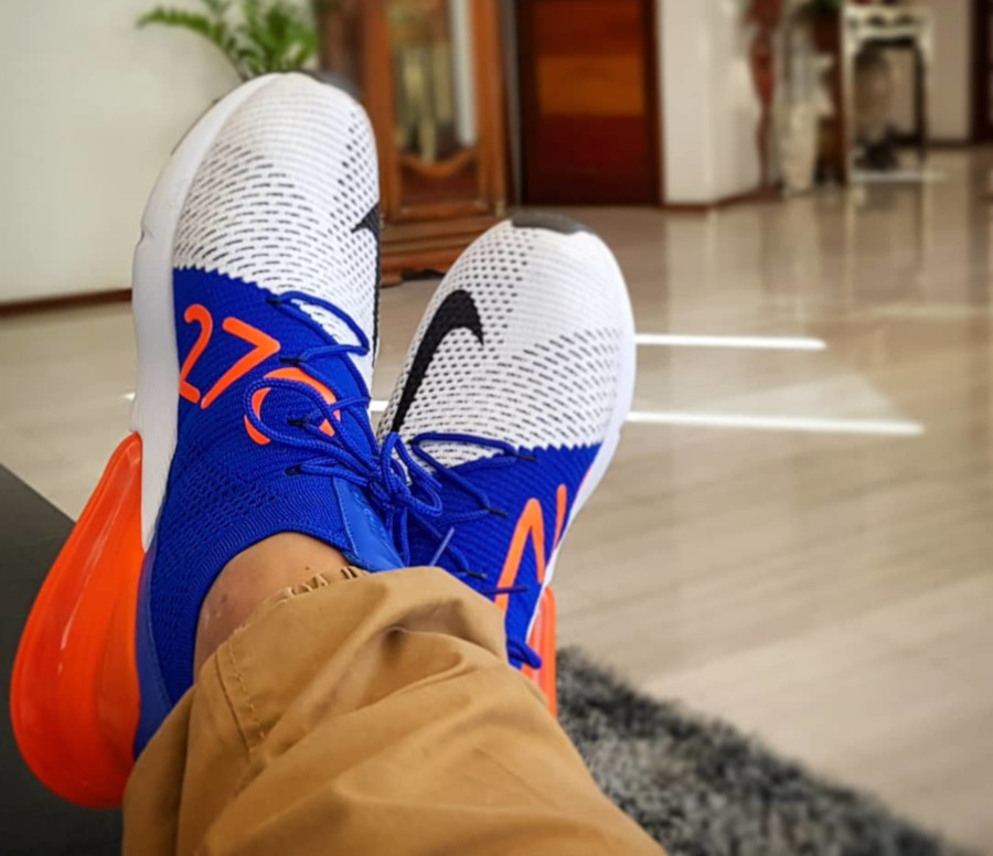 Nike Air Max 270 Flyknit Racer Blue Total Crimson - @intsikicks