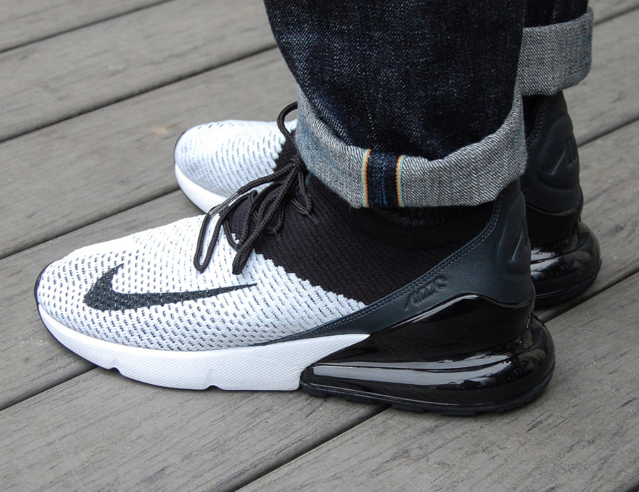 Nike Air Max 270 Flyknit White Black Anthracite - @atticclothing