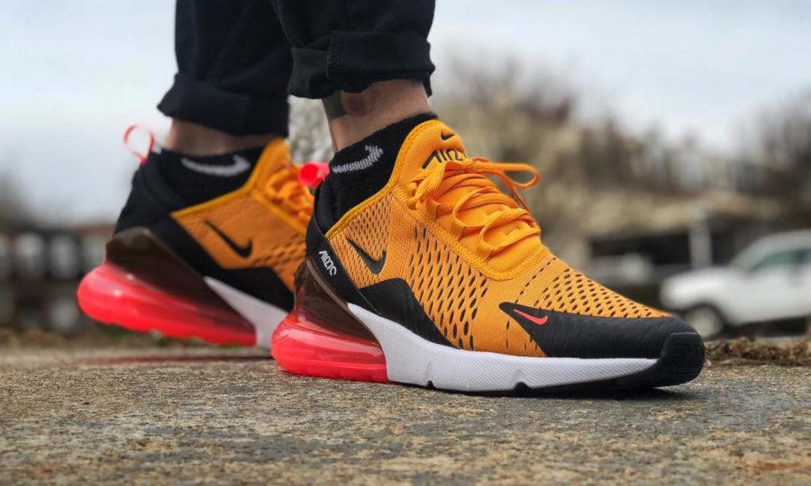 Nike Air Max 270 University Gold Hot Punch Orange Tiger - @kicks_rmiller
