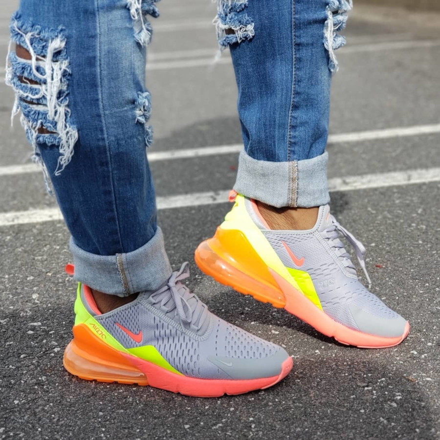 Nike Air Max 270 Wolf Grey Hot Punch Total Orange - @meikmeik2001