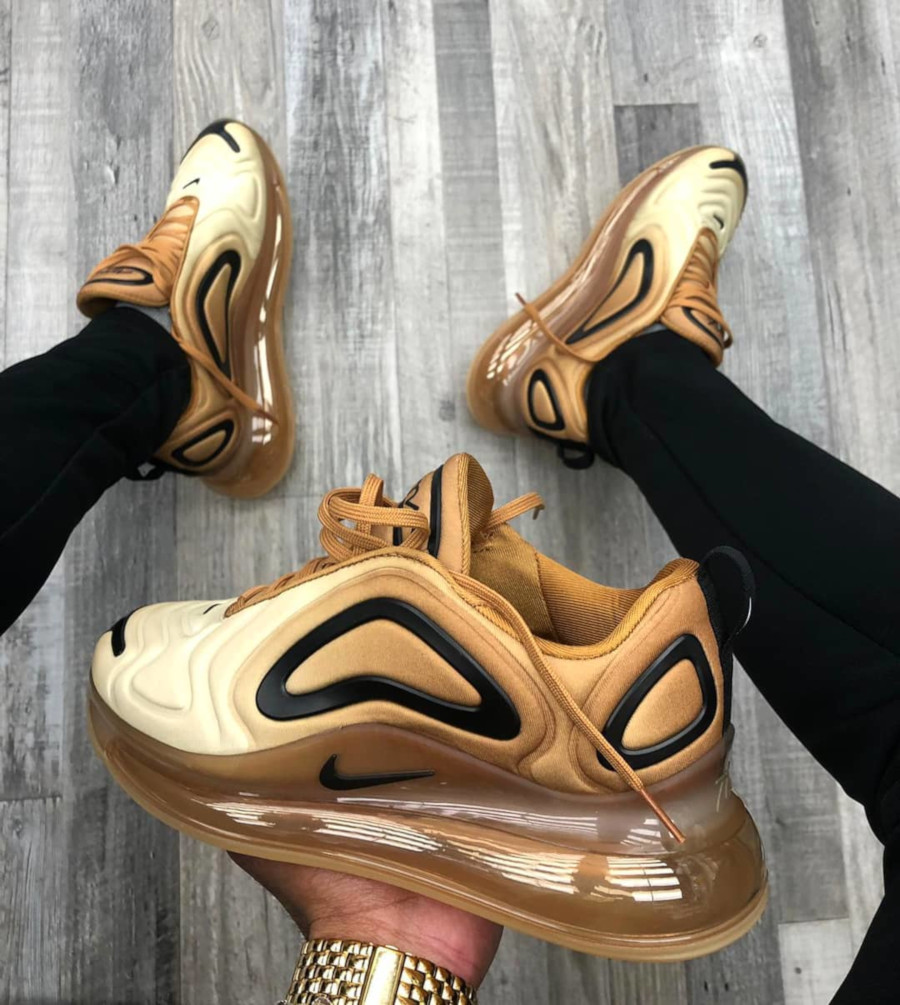 Nike Air Max 720 Club Gold Wheat Black (4-1)