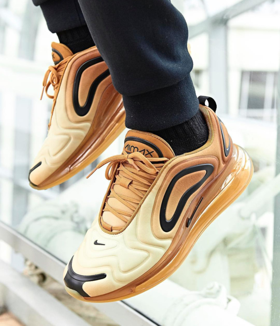Nike Air Max 720 Desert Gold Wheat Black AR9293-700