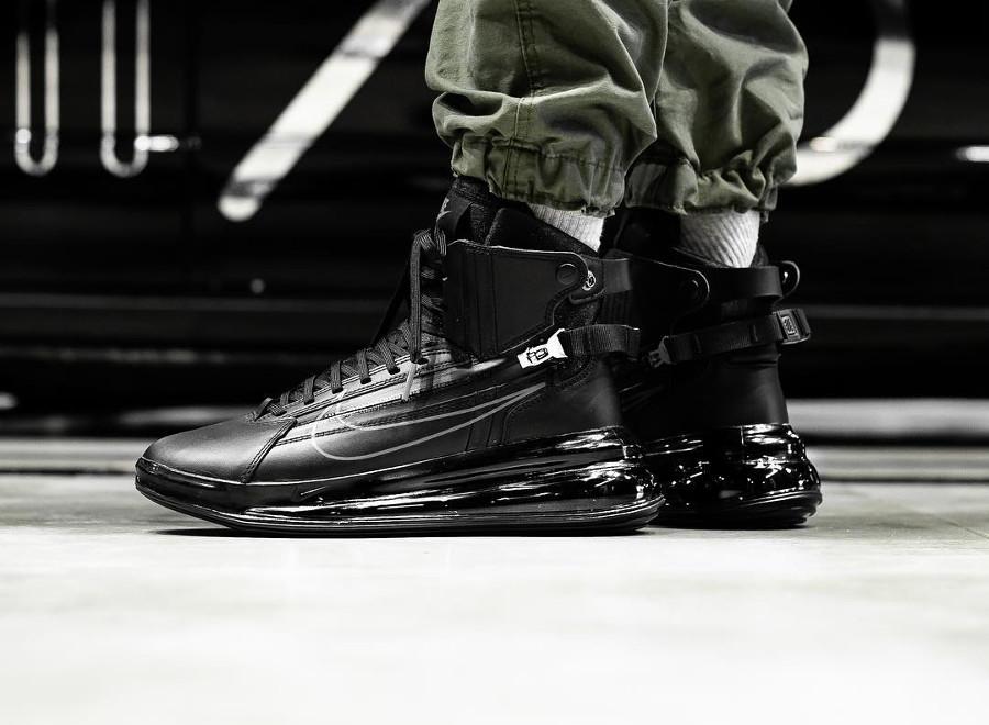 Nike Air Max 720 SATRN Saturn Zip Black Dark Grey on feet (1)