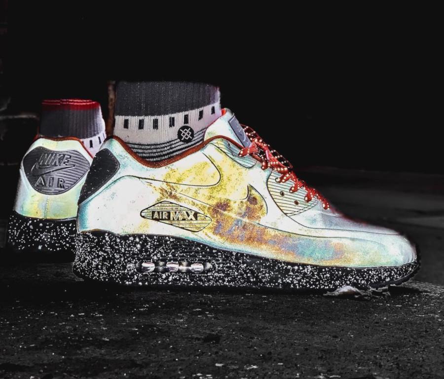 Nike Air Max 90 2019 qui réfléchissant la lumière