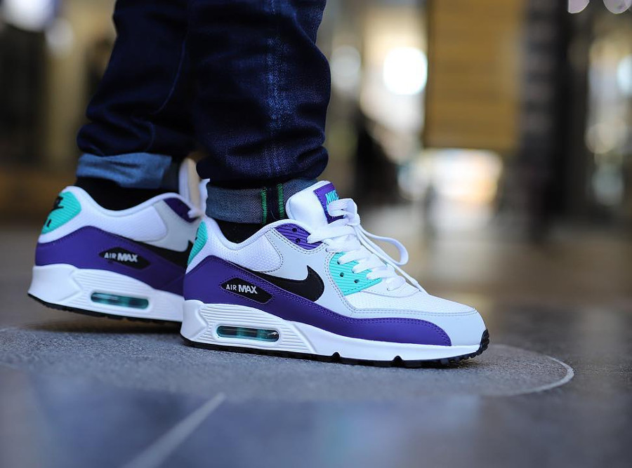 Nike Air Max 90 Essential 'Grape' White Jade Purple (2)