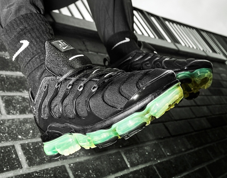 Nike Air Vapormax TN noire et vert fluo (5)