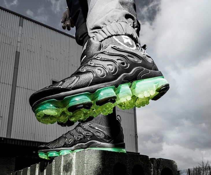 Nike Air Vapormax TN noire et vert fluo (6)