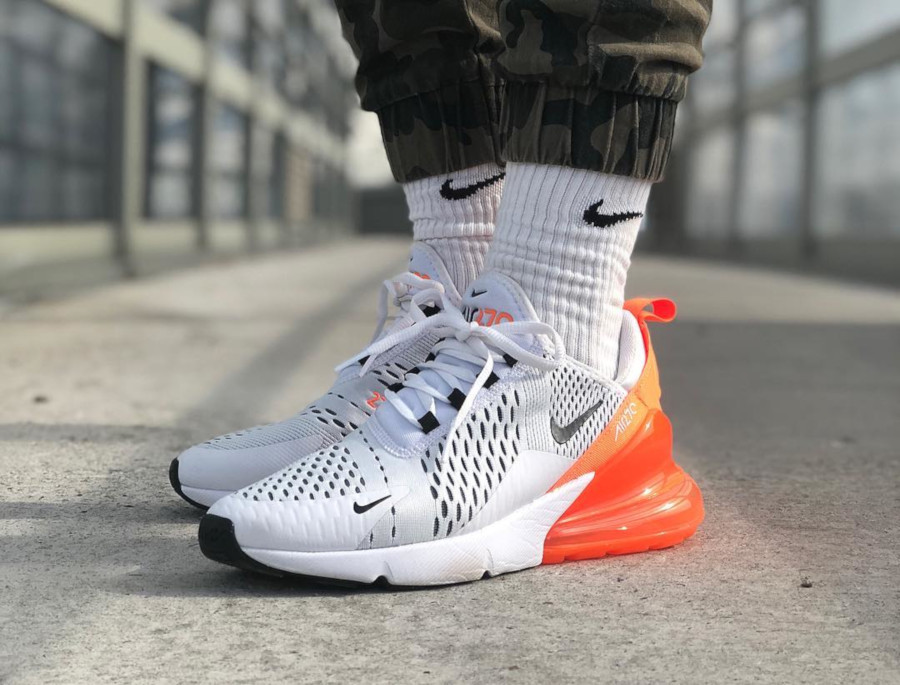 Nike Wmns Air Max 270 White Orange Black - @britta_ruth920