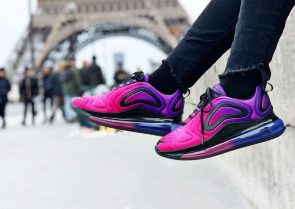 Nike Wmns Air Max 720 Sunset Hyper Grape Pink Black (couv)