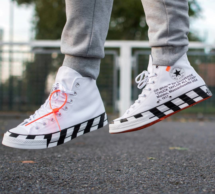 Off White x Converse Stripe White - @ashbashsneakers