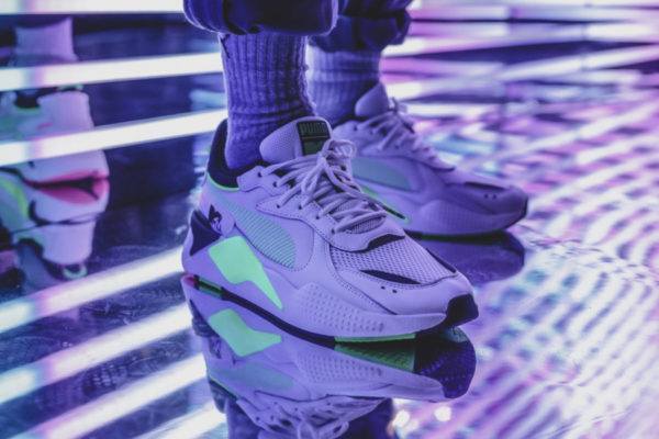 Puma RS X Tracks MTV Yo Rap White Fluro Green 371841-01