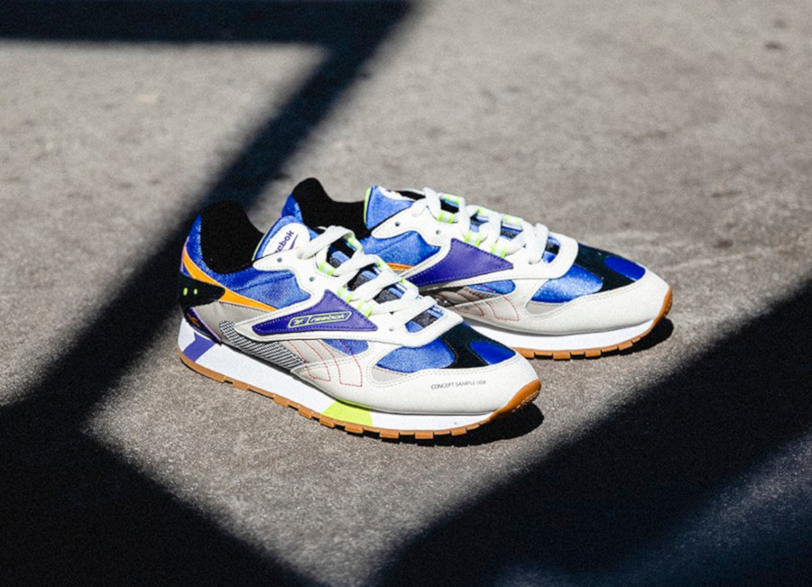 Reebok Classic Leather Alter The Icons Cream Sand Cobalt Lime (3)