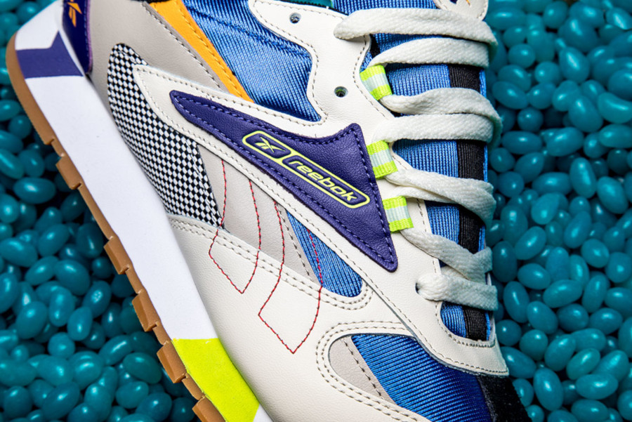 Reebok Classic Leather Alter The Icons Cream Sand Cobalt Lime (4)