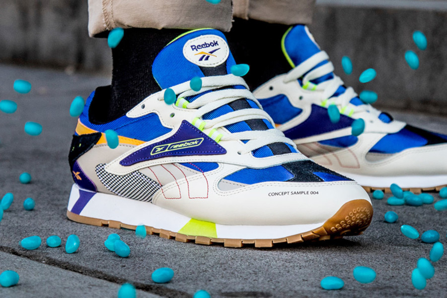 Reebok Classic Leather Alter The Icons Cream Sand Cobalt Lime (5)