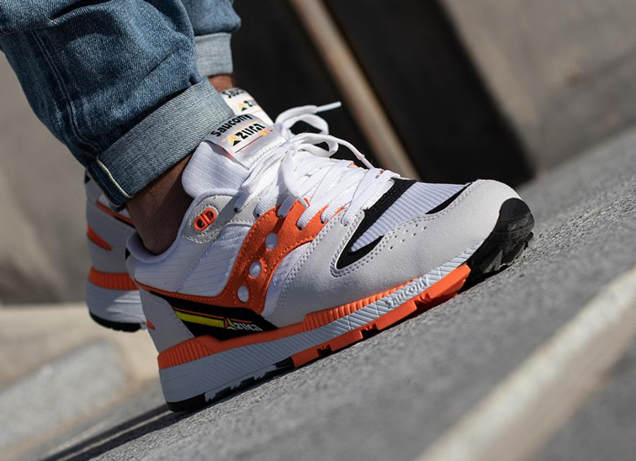 Saucony Azura White Orange Black