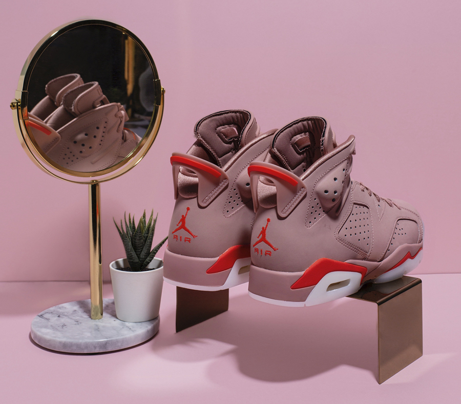 Womens Air Jordan VI Suede Rust Pink (1)