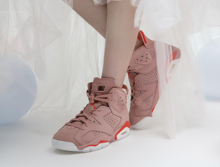 Womens Air Jordan VI Suede Rust Pink (3)