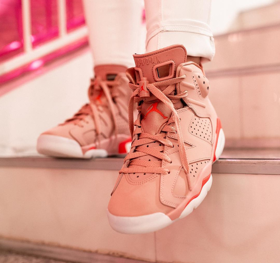 Womens Air Jordan VI Suede Rust Pink (5)