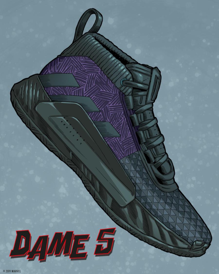 Adidas Dame 5 Black Panther (1)