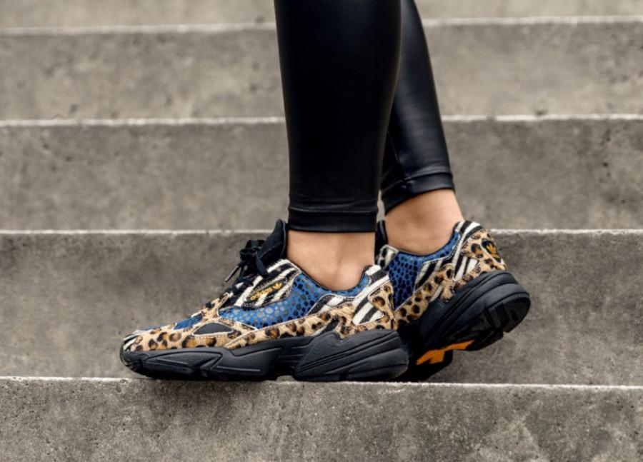 Adidas-Falcon-avec-imprimés-léopard-serpent-et-zèbre-1