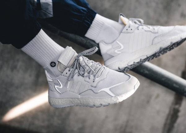 Adidas Nite Jogger Boost blanche Triple White BD7676