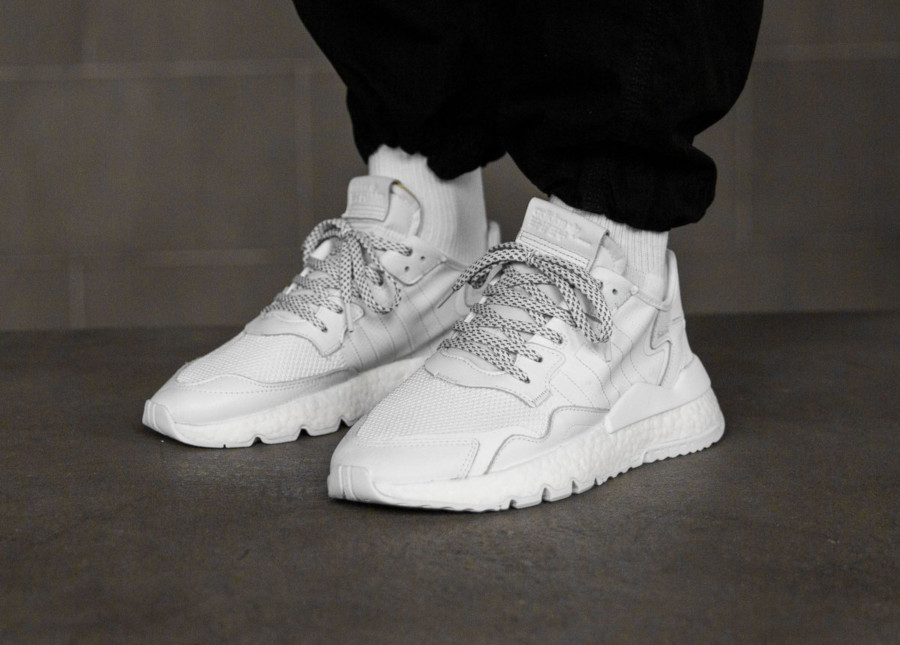 Adidas Nite Jogger Triple White (4)