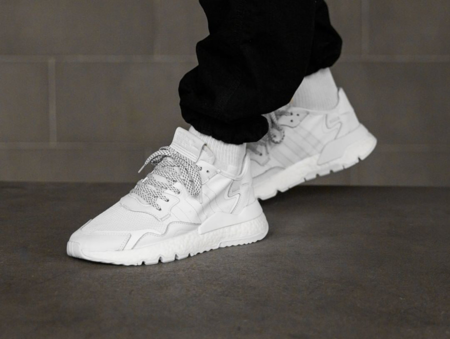Adidas Nite Jogger Triple White (5)
