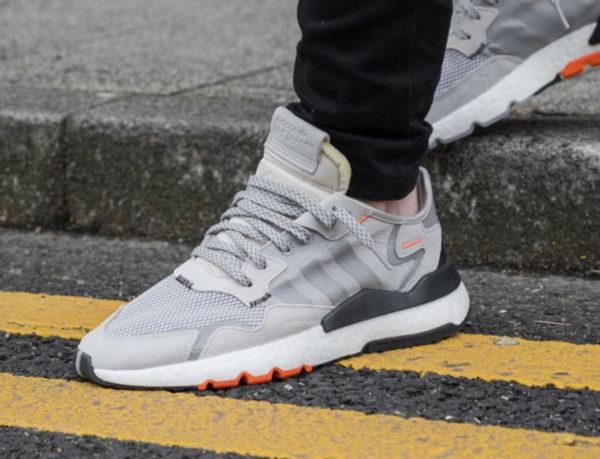 Adidas Nite Jogger grise noire et orange (3)