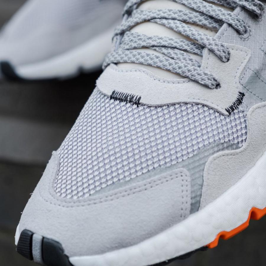 Adidas Nite Jogger grise noire et orange (4)