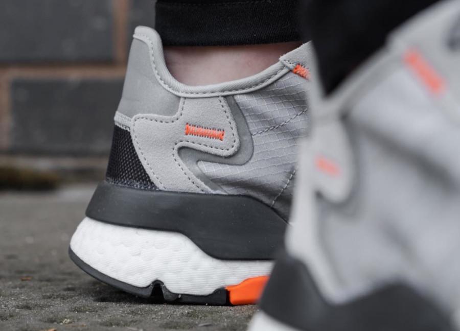 Adidas Nite Jogger grise noire et orange (5)