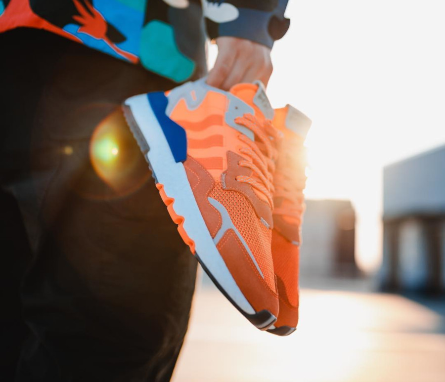 Adidas Nite Jogger orange vif (exclusivité JD Sports) (2)